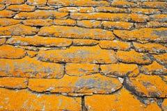 Roof, shindles, natural stone, quartzite Stock Photo