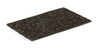 Roof shingle. Piece of asphalt roof shingle isolated on white Royalty Free Stock Images