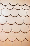 Roof shingle. Detail of roof shingle on exhibition stand at construction fair Stock Photos