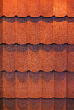 Roof shingle. Detail of roof shingle on exhibition stand at construction fair Stock Image