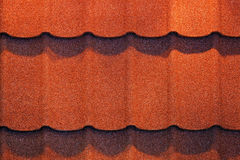 Roof shingle. Detail of roof shingle on exhibition stand at construction fair Royalty Free Stock Image