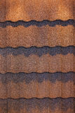 Roof shingle. Detail of roof shingle on exhibition stand at construction fair Royalty Free Stock Photos
