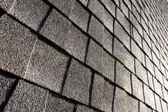 Roof shingles. Abstract, angled shot of roof shingles Royalty Free Stock Photo