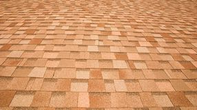 Roof shingles. The roof of a house with shingles makes this great pattern royalty free stock photos