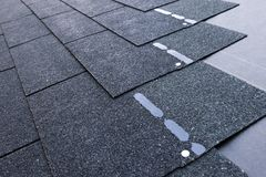 Roof shingles stock photos