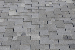 The roof shingles as a background or texture Stock Photo