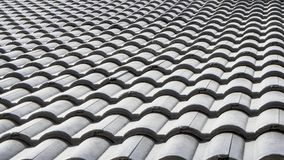 Black tile roof, new house royalty free stock images