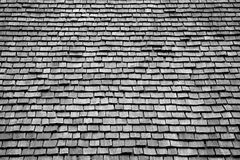 Roof Shingles. Cedar wood roof shingles texture and pattern Stock Images