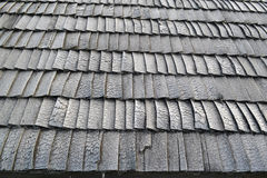 Roof Shingles. Old roof shingles at small tourist town in north Europe Stock Photography