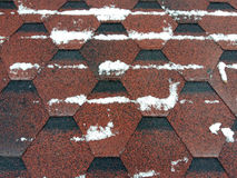 Roof shingles with snow Stock Photography