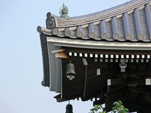 Roof of shrine. Part of a roof of a japanese shrine in Tokyo royalty free stock photography