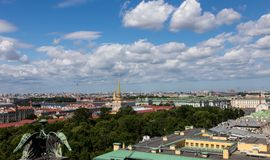Roof sights. St. Petersburg. Russia. Roof sights amd clouds. St. Petersburg. Russia stock photography