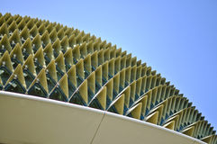 Roof of the Singapore Esplanade Theatre Royalty Free Stock Photo