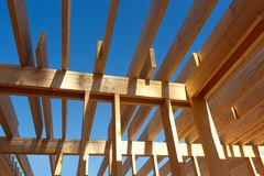 Roof skeleton closeup Stock Image