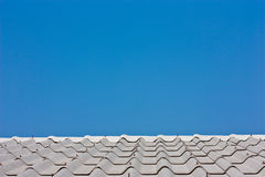Roof and sky. Roof at my home and moning time Stock Photography