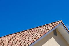 Roof and sky. This is a photo of the roof and the sky I have taken on a sunny day Stock Photography