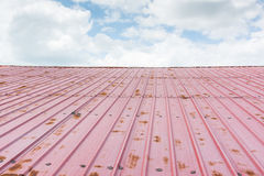 The roof and sky Royalty Free Stock Photos