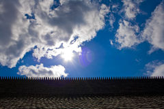 Roof and sky Royalty Free Stock Images