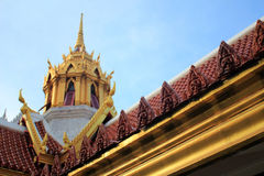 Roof and Sky. In Thailand Royalty Free Stock Photography