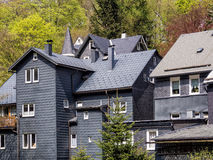 Roof slate houses in the Thuringian Forest Royalty Free Stock Photos