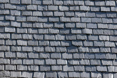 Roof with slate tiles Stock Photo
