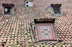 Roof with small windows Royalty Free Stock Photos