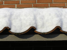 Roof with snow Royalty Free Stock Image