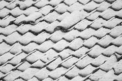 Roof with snow Stock Images
