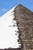 Roof snow Royalty Free Stock Photo