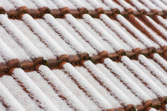 Roof with snow Stock Image