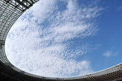 Roof of a soccer stadium Royalty Free Stock Photo