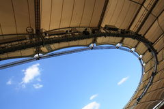 Roof of a soccer stadium royalty free stock images
