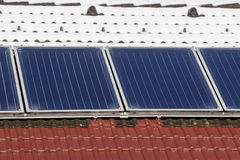 Roof with solar panel Royalty Free Stock Photography