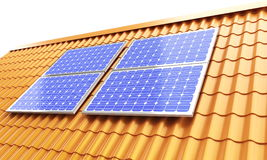 Roof solar panels Royalty Free Stock Photos