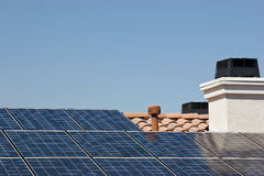 Roof Solar Panels Royalty Free Stock Images