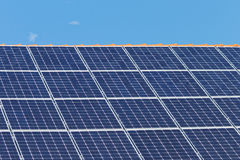 Roof with solar panels Royalty Free Stock Image