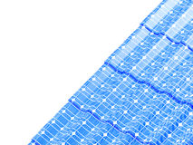 Roof solar panels  on a white background 3D illustration Royalty Free Stock Images