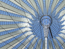 The roof of the Sony-Center. In Berlin with blue sky stock images