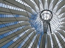 Roof of the Sony Center. In Berlin Stock Image