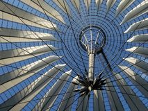 The roof of sony center. In berlin Royalty Free Stock Photo