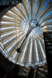 The roof of the Sony-Center. In Berlin stock photo