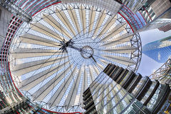 Roof of the Sony Center Royalty Free Stock Photo