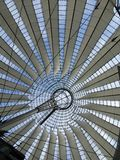 Roof of Sony Center in Berlin. Iconic roof of the Sony Center in Berlin, Germany Royalty Free Stock Images