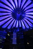 Roof of the Sony Center in Berlin illuminated at night. Roof of the Sony Center in Berlin illuminated by night Stock Images