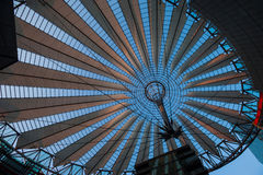 Roof of the Sony Center, Berlin. BERLIN - May 10: Potsdamer Platz, the roof of the Sony Center on May 10, 2016 in Berlin Stock Photography