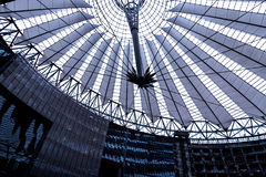 Roof of the Sony Center is located near the Berlin Potsdamer Platz railway station. Sony Center contains a mix of shops, restaurants, a conference centre, hotel Royalty Free Stock Photo