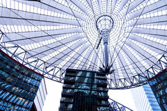 Roof of the Sony Center is located near the Berlin Potsdamer Platz railway station. Sony Center contains a mix of shops, restaurants, a conference centre, hotel Royalty Free Stock Photos