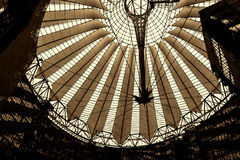 Roof of the Sony Center is located near the Berlin Potsdamer Platz railway station. Sony Center contains a mix of shops, restaurants, a conference centre, hotel Stock Photo