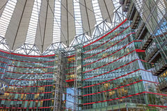 Roof of Sony Center at Potsdamer Platz, Berlin. Berlin, Germany - October 28, 2013: Sony Center at the  Potsdamer Platz square - a group of buildings in the Stock Image