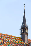 Roof and Spire of Matthias Church Royalty Free Stock Images